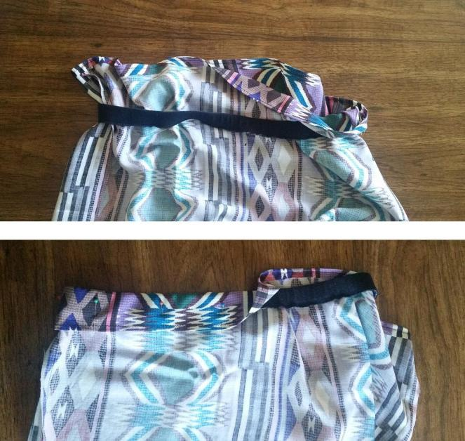tuck the waistband over your skirt